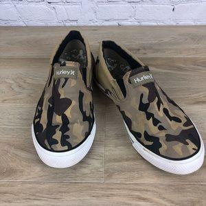 Hurley Camo Slip On Shoes Men's 8  Women's 10